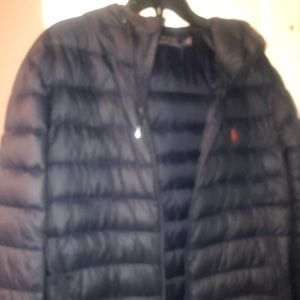 Men's Polo quilted hooded jacket